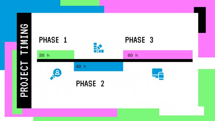 Plantilla de presentación Portafolio colorido de desarrollador