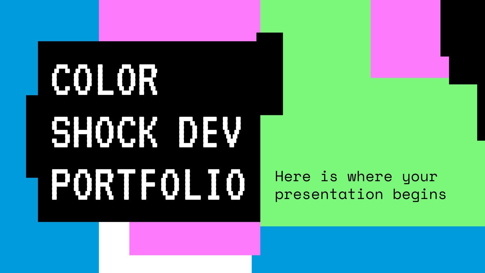 Color Shock Dev Portfolio presentation template