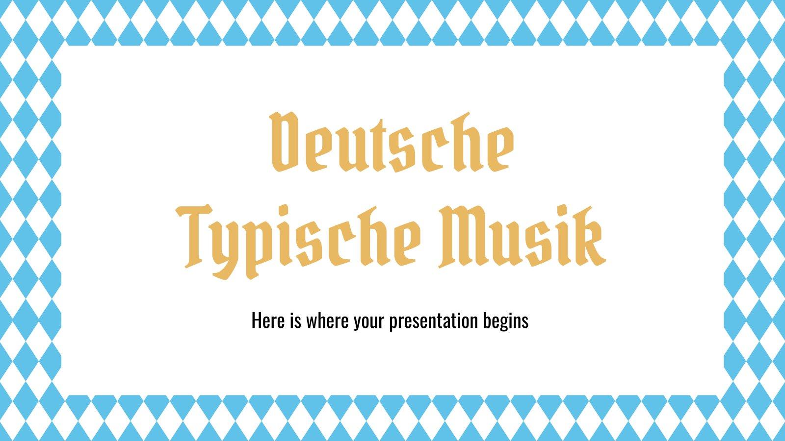 Plantilla de presentación Deutsche Typische Musik