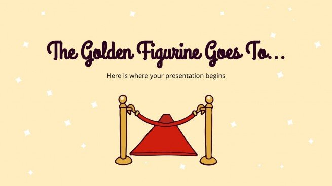The Golden Figurine Goes To... presentation template