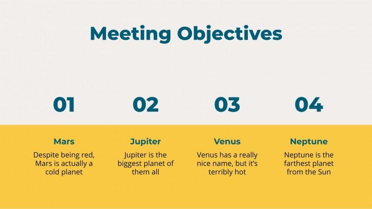 Plantilla de presentación Reunión administrativa