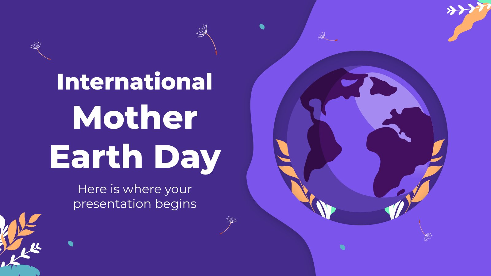 International Mother Earth Day presentation template