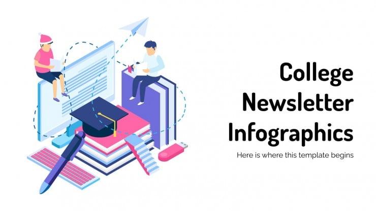 Infográficos para newsletter da faculdade
