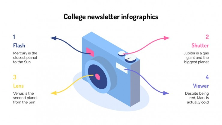 College Newsletter Infographics presentation template