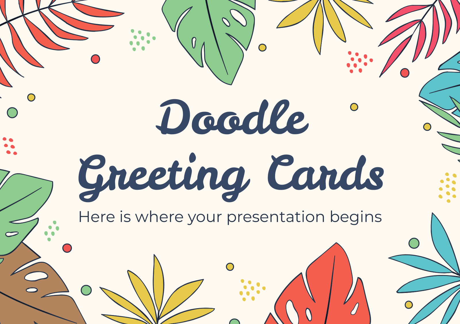 Doodle Greeting Cards presentation template