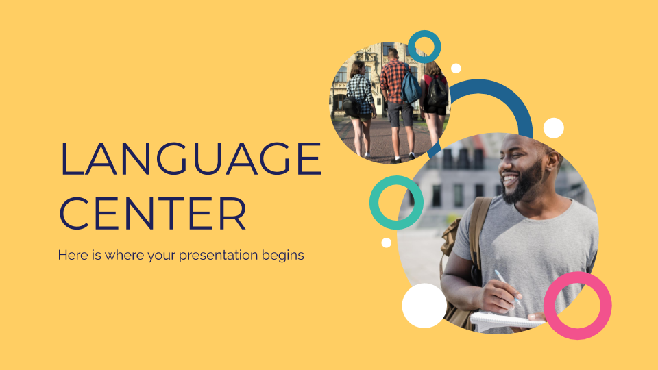 Language Center presentation template