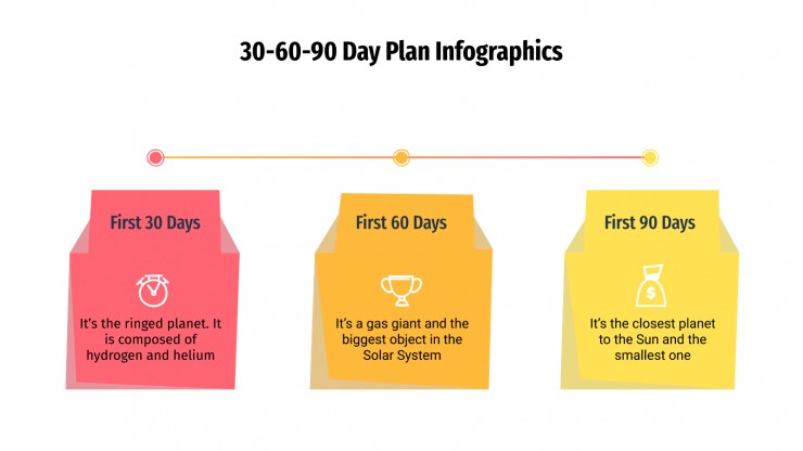 30-60-90 Day Plan Infographics presentation template