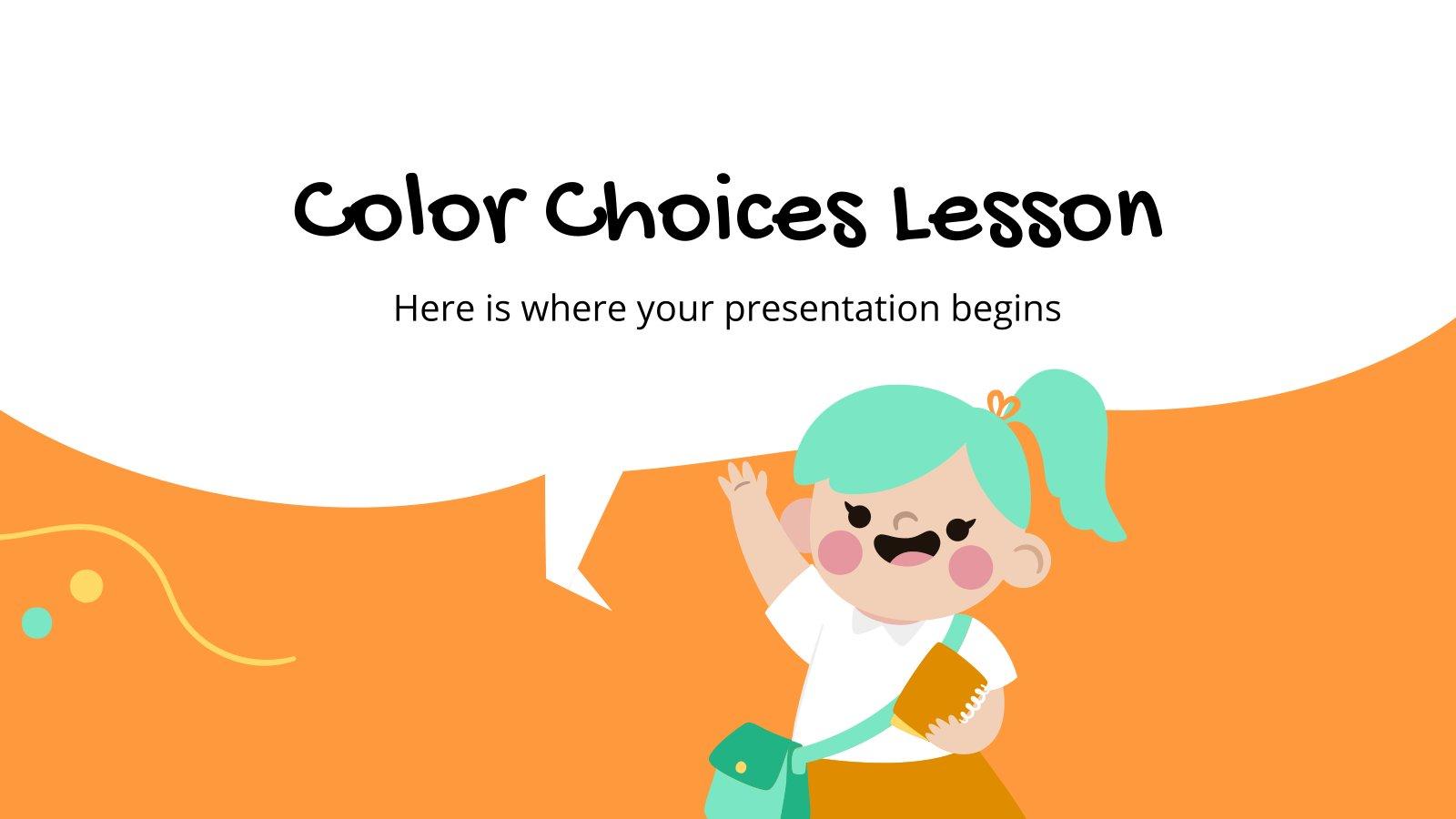 Modelo de apresentação Aula de cores