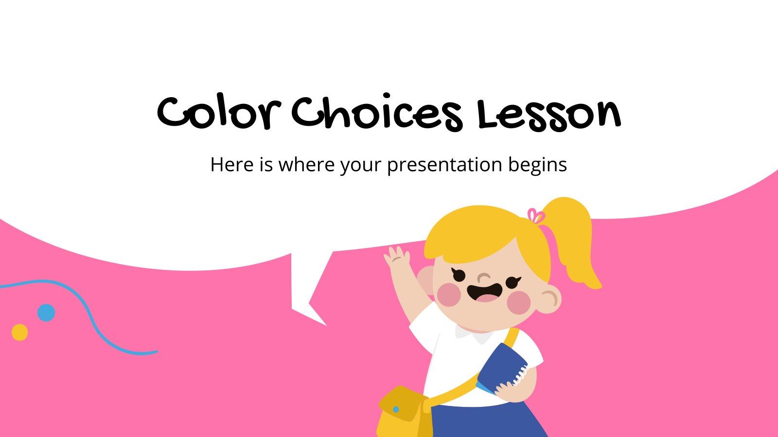 Plantilla de presentación Lección sobre los colores