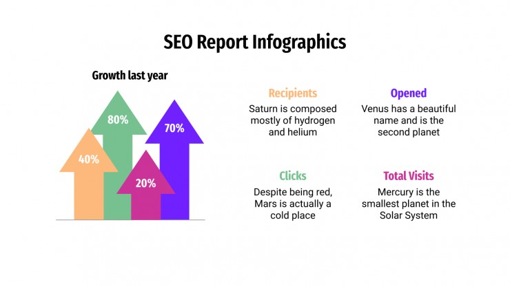 SEO Report Infographics presentation template