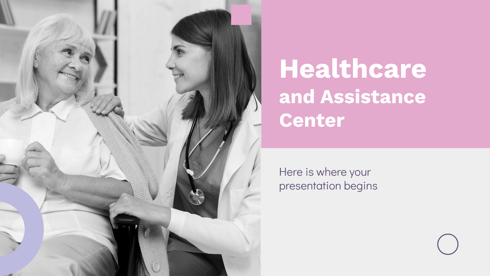 Healthcare and Assistance Center presentation template