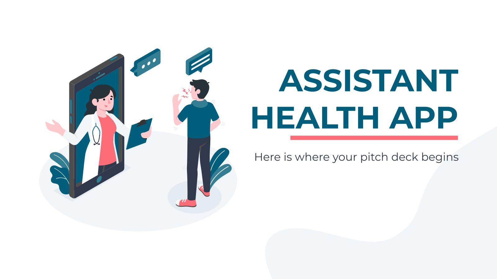 Assistant Health App presentation template