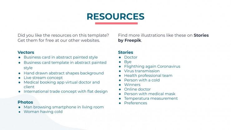 Plantilla de presentación App de salud y medicina