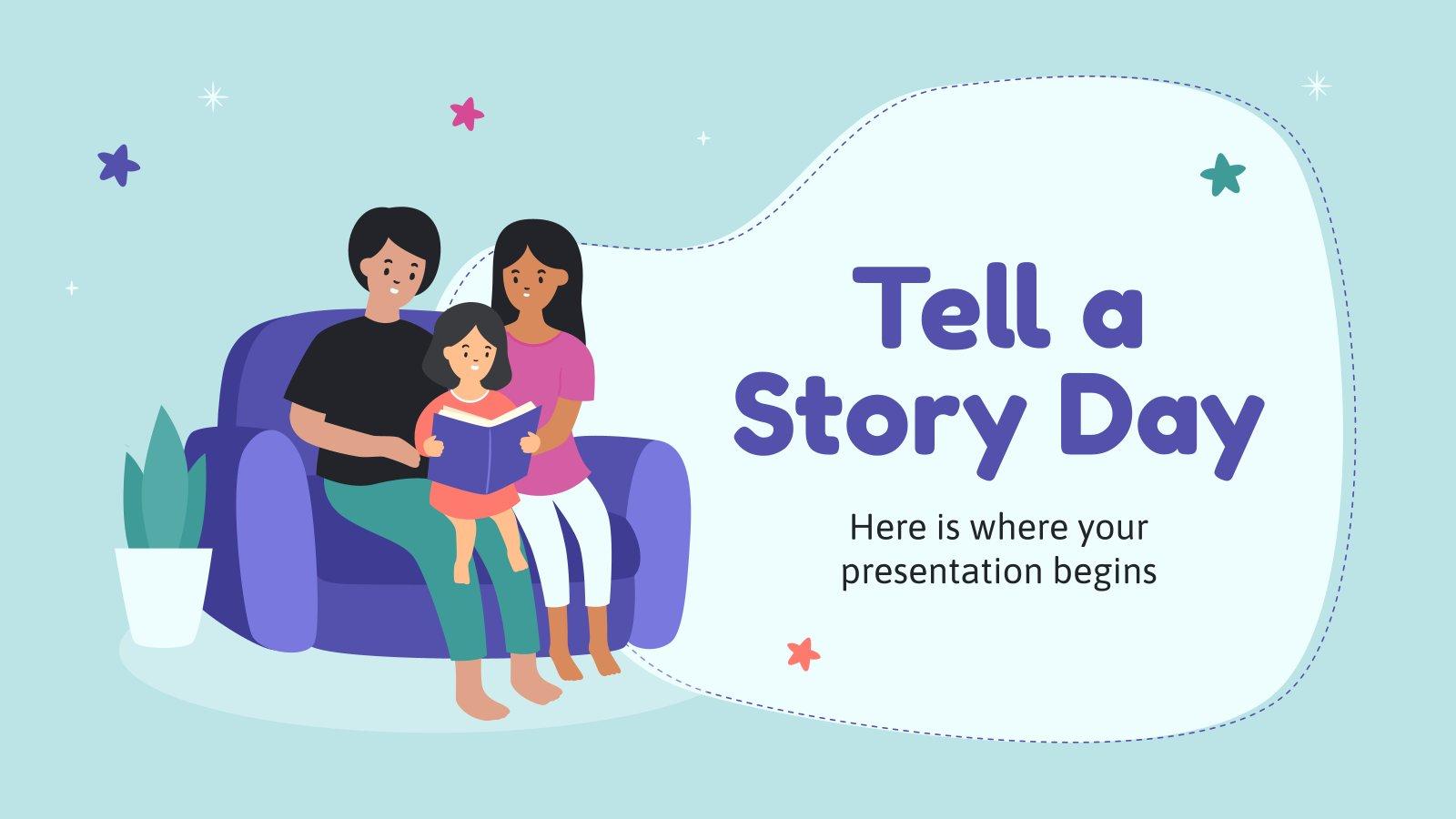Plantilla de presentación Día de Contar Historias