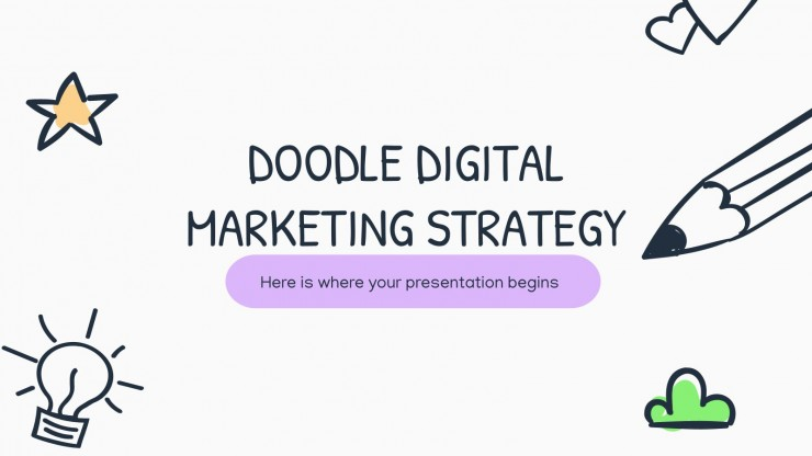 Doodle Digital Marketing Strategy presentation template
