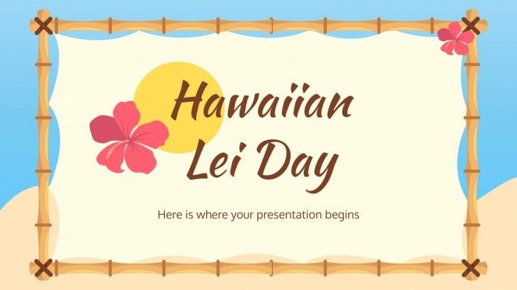 Modelo de apresentação Dia da guilanda havaiana