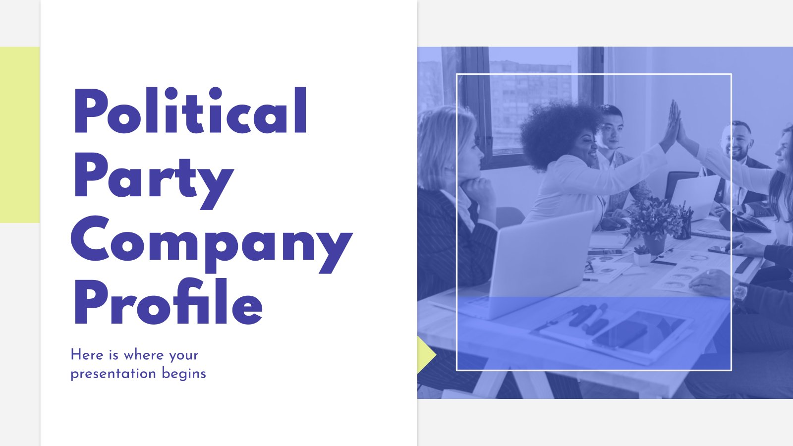 Political Party Company Profile presentation template