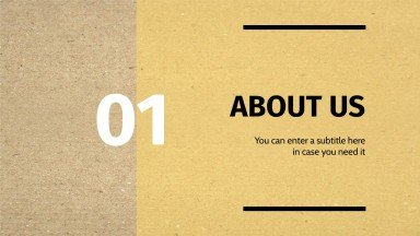 Zero Waste Cardboard Backgrounds presentation template
