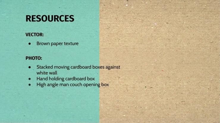 Modelo de apresentação Fundos de papelão com zero resíduo