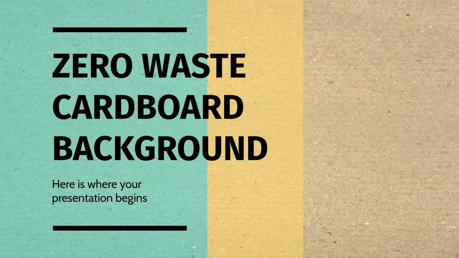 Plantilla de presentación Fondos de cartón cero residuos