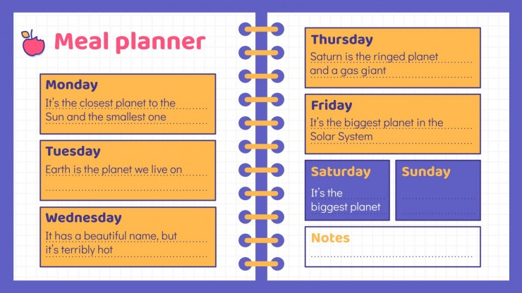 Digital Student Planner presentation template