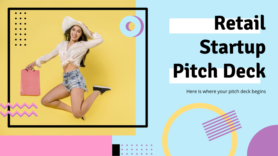 Retail Startup Pitch Deck presentation template thumbnails