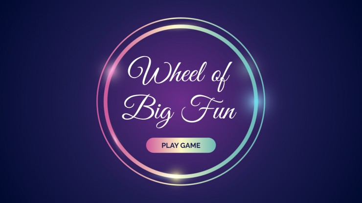 Wheel of Big Fun presentation template