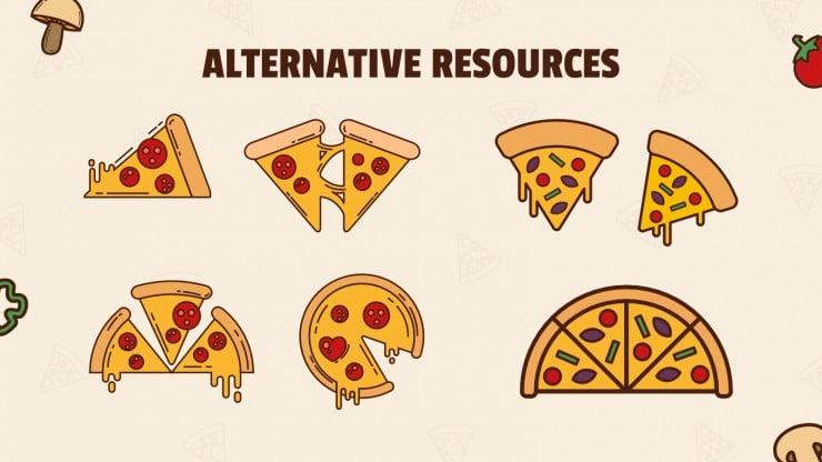 Modelo de apresentação Aprender frações: pedaços de pizza