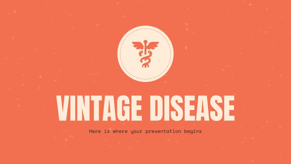 Plantilla de presentación Diseño vintage para medicina