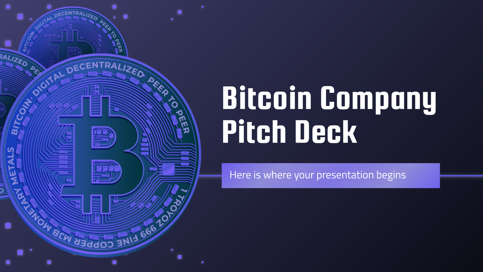 Bitcoin Company Pitch Deck presentation template