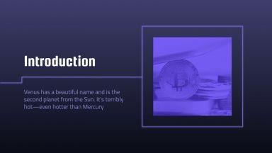Bitcoin Unternehmen Pitch Deck Präsentationsvorlage