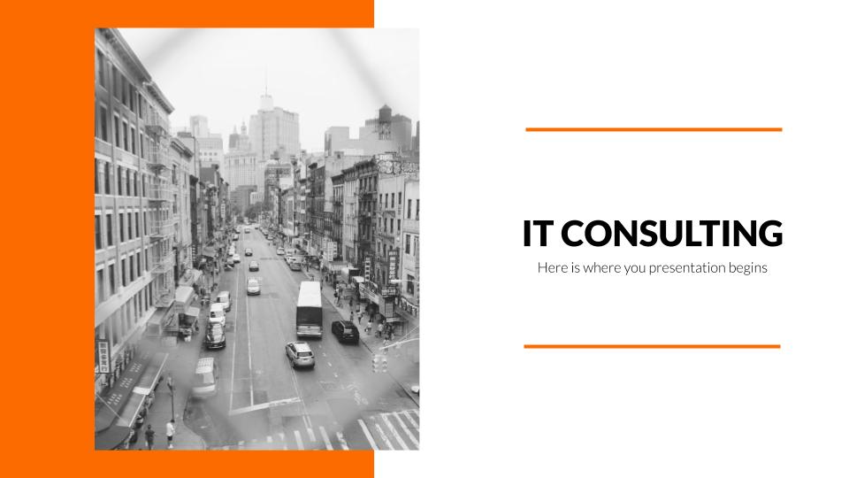 Modelo de apresentação Consultoria de TI