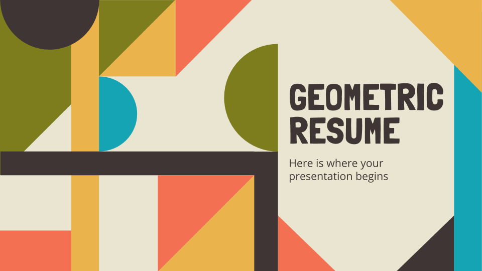 Geometric Resume presentation template