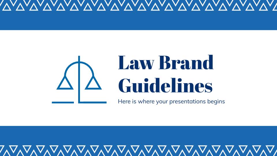 Modelo de apresentação Diretrizes do escritório de advocacia