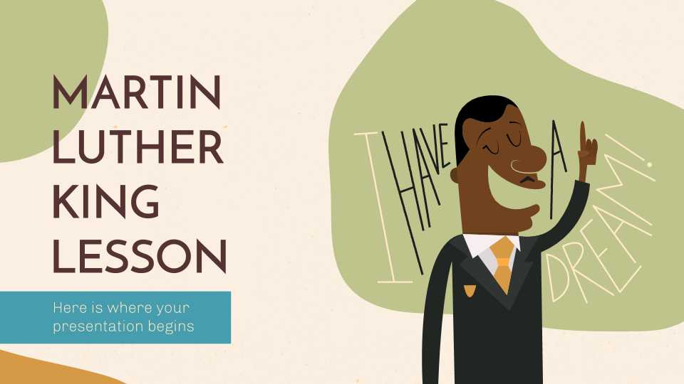 Martin Luther King Lesson presentation template