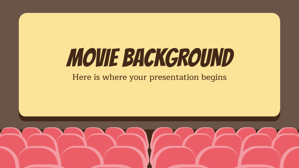 Movie Background presentation template