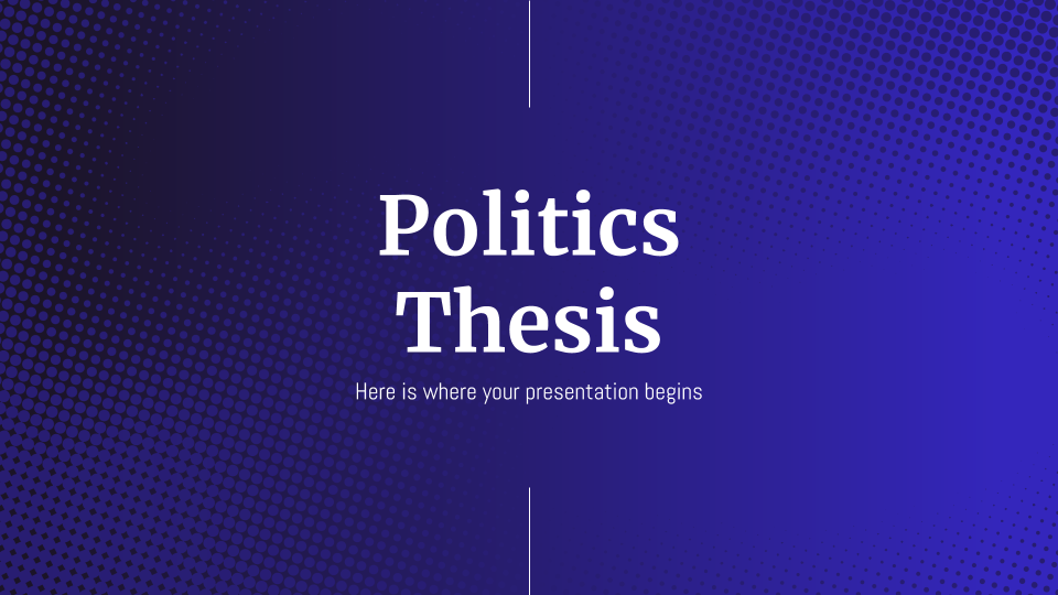 Politics Thesis presentation template