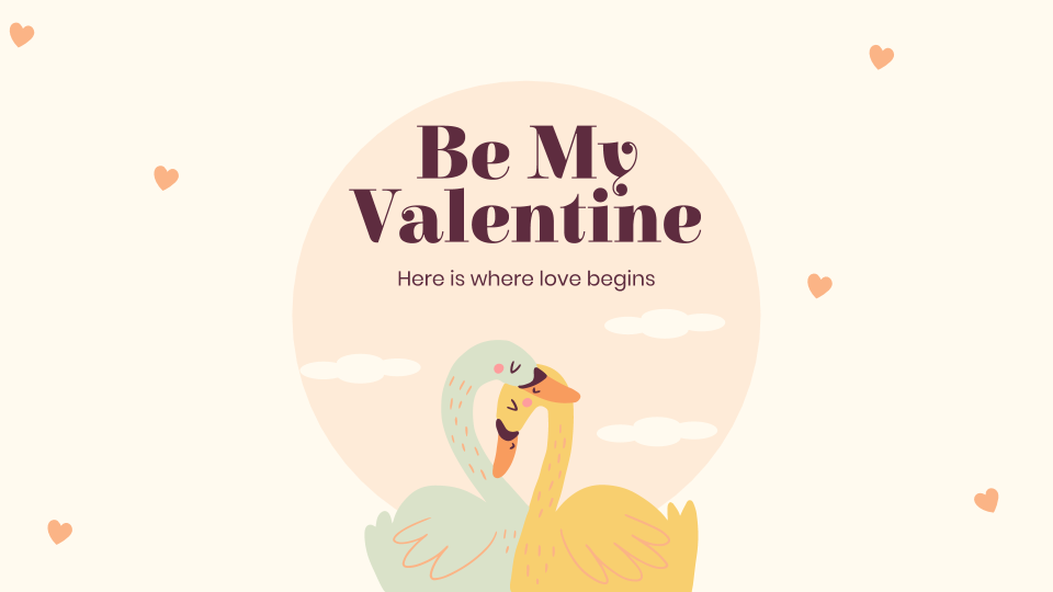 Be My Valentine presentation template