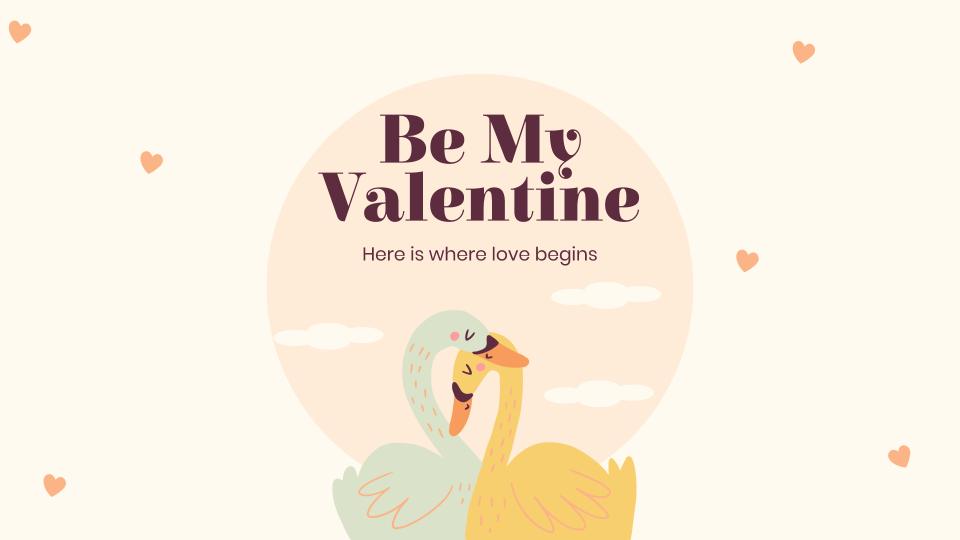 Sei mein Partner am Valentinstag Präsentationsvorlage