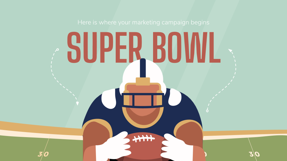 Super Bowl Marketing Campaign presentation template