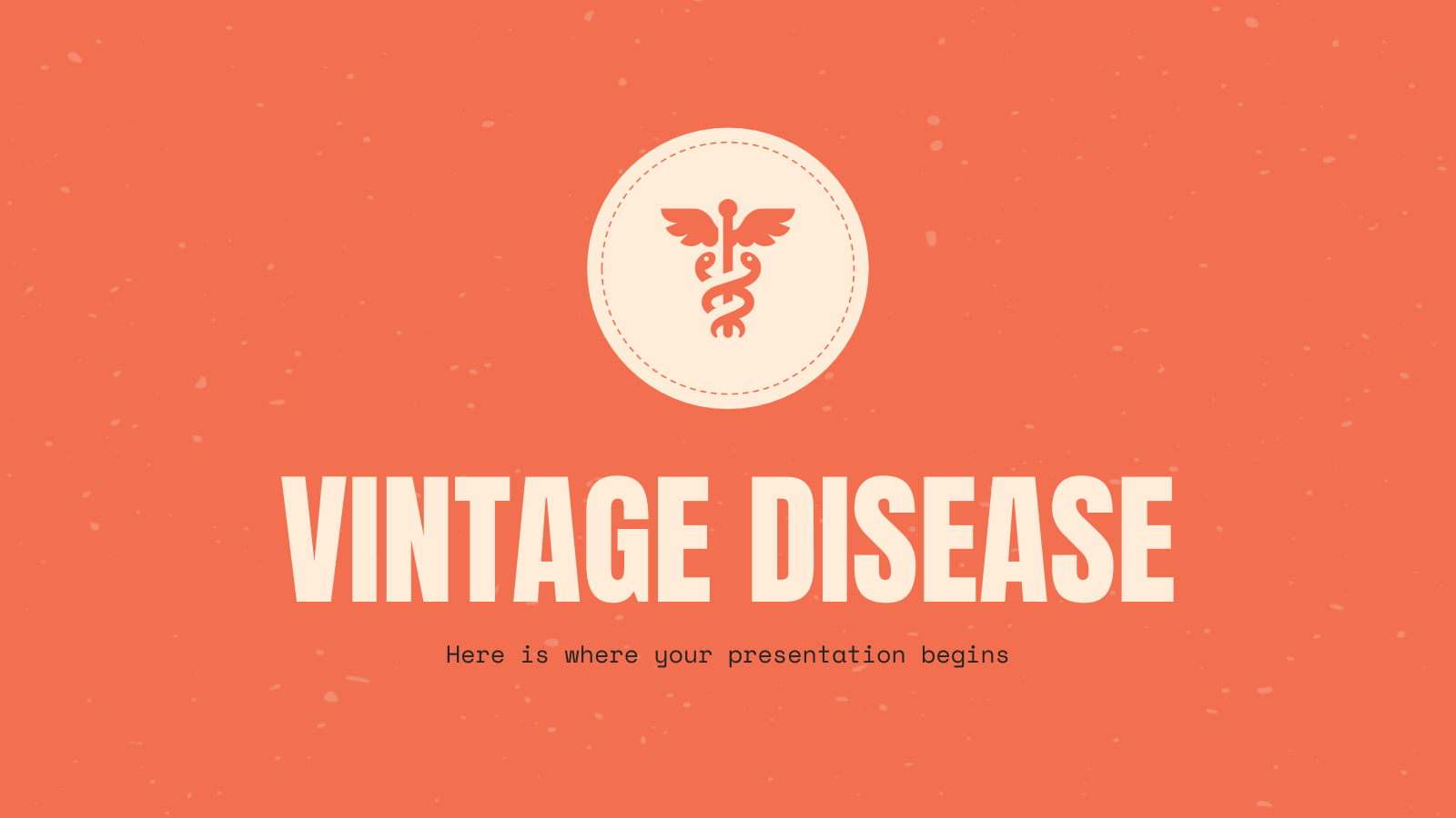 Vintage Disease presentation template