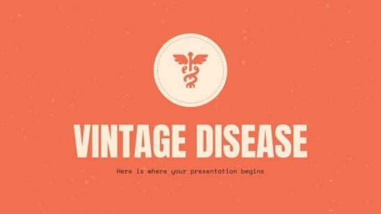 Modelo de apresentação Febre vintage