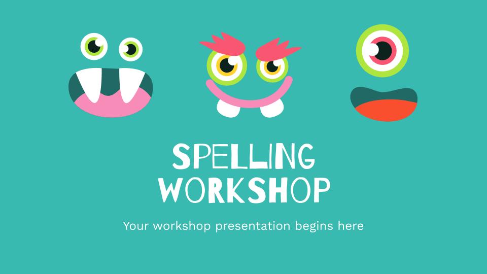 Atelier d'orthographe : Modèles de présentation