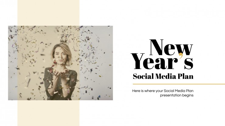 New Year's Social Media Plan presentation template