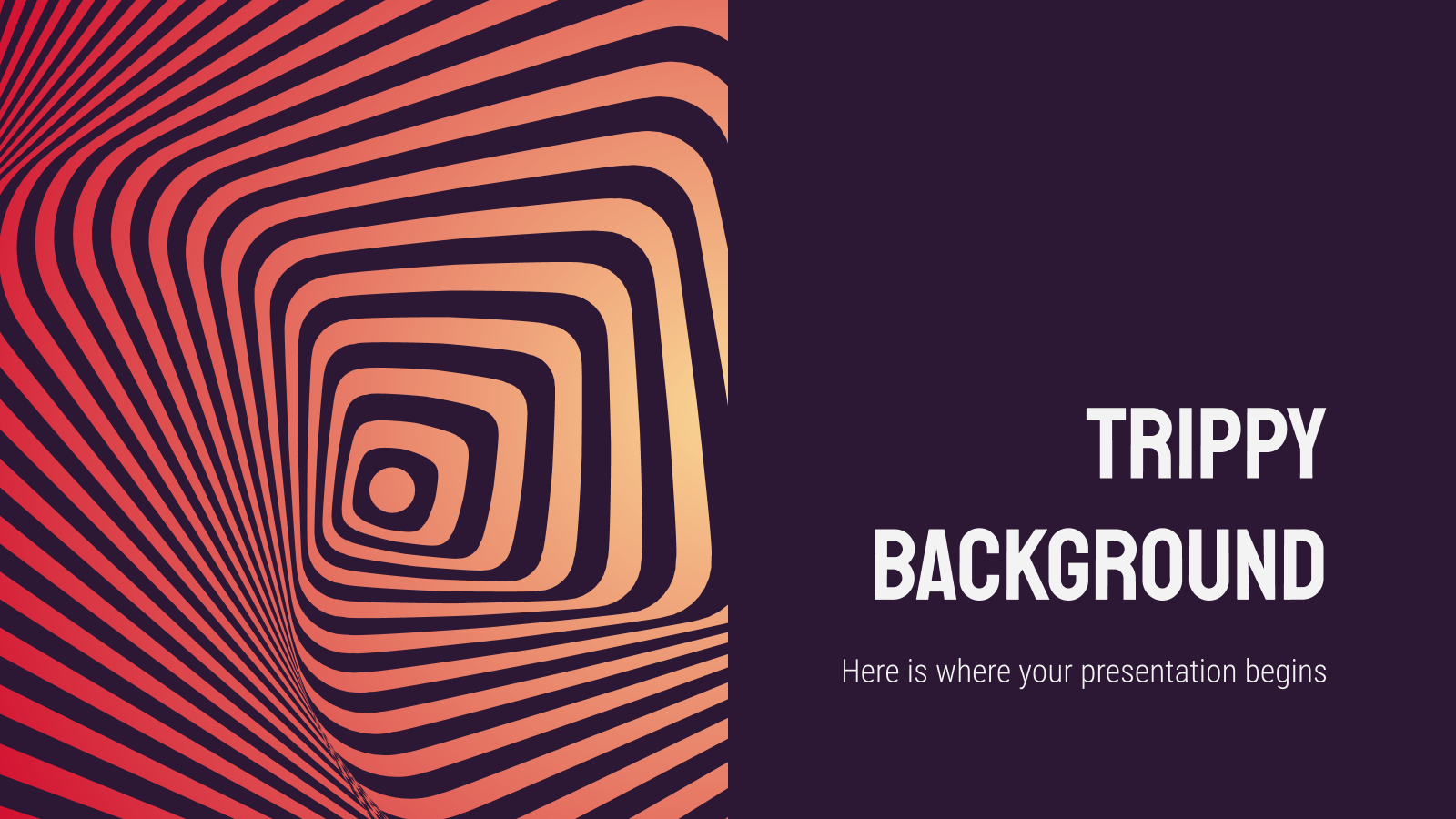 Trippy Background presentation template
