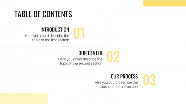 Nutrition Center presentation template