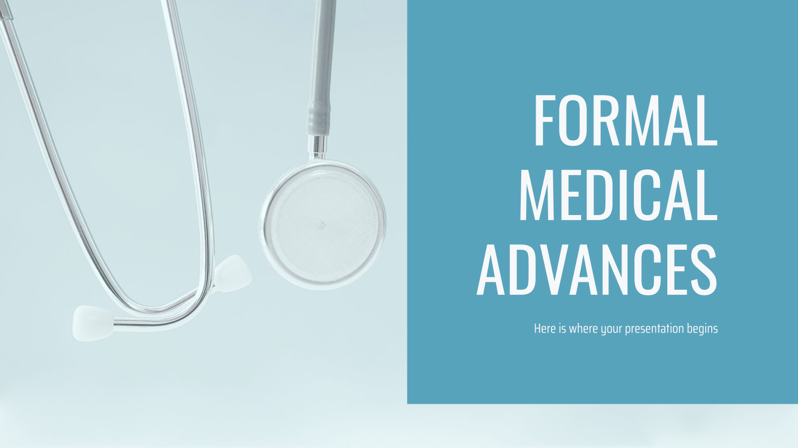Formal Medical Advances presentation template