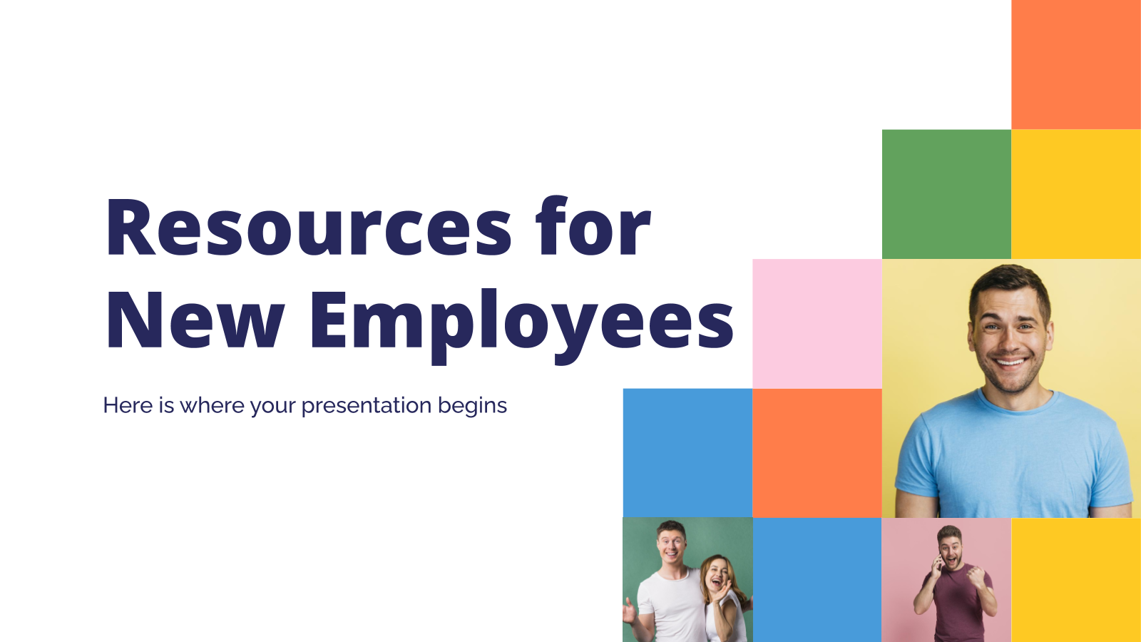Resources for New Employees presentation template