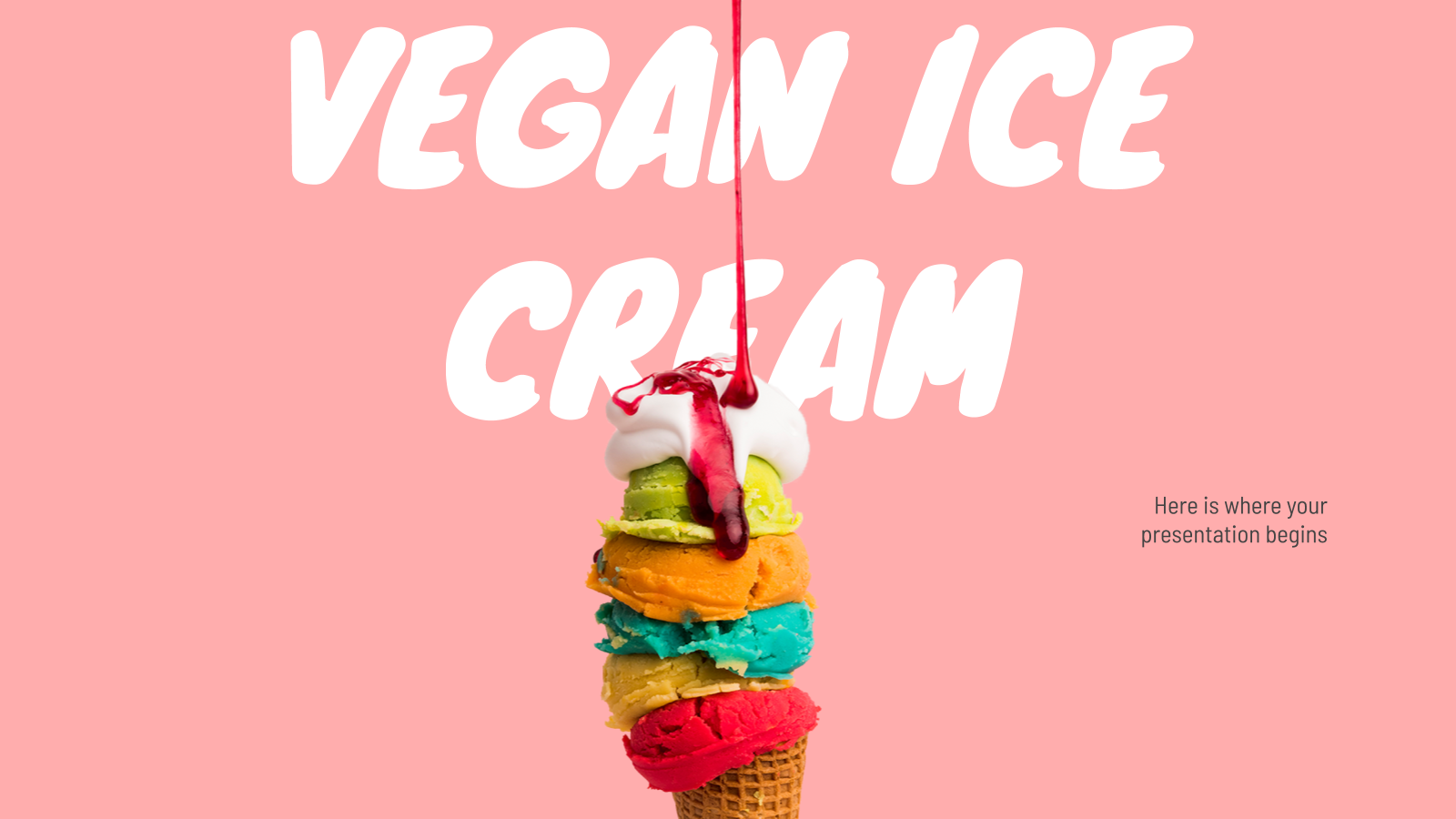 Vegan Ice Cream Company presentation template