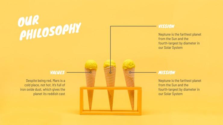 Vegan Ice Cream Company presentation template